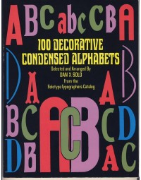 100 Decorative condensed Alphabets